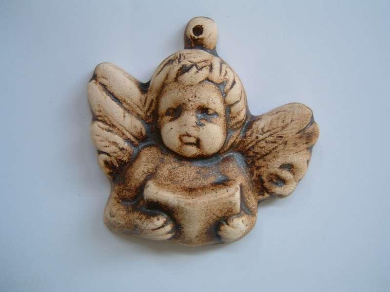 Vánoční ozdoby - andělíček hlavička